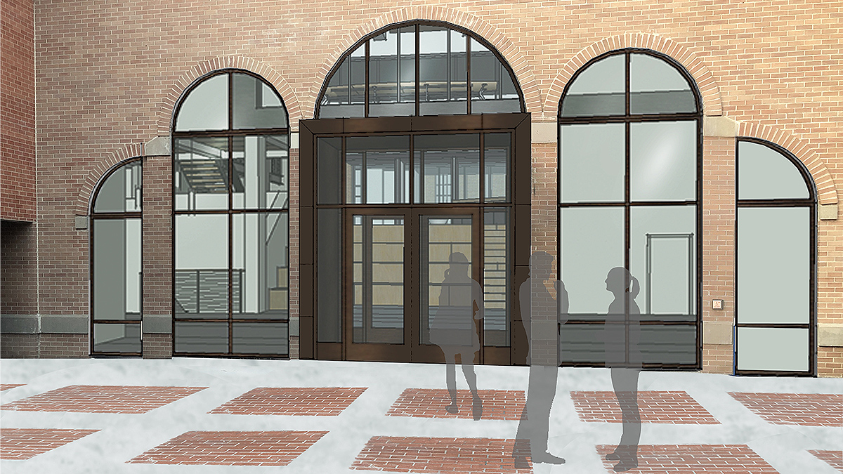 Proposed courtyard entry