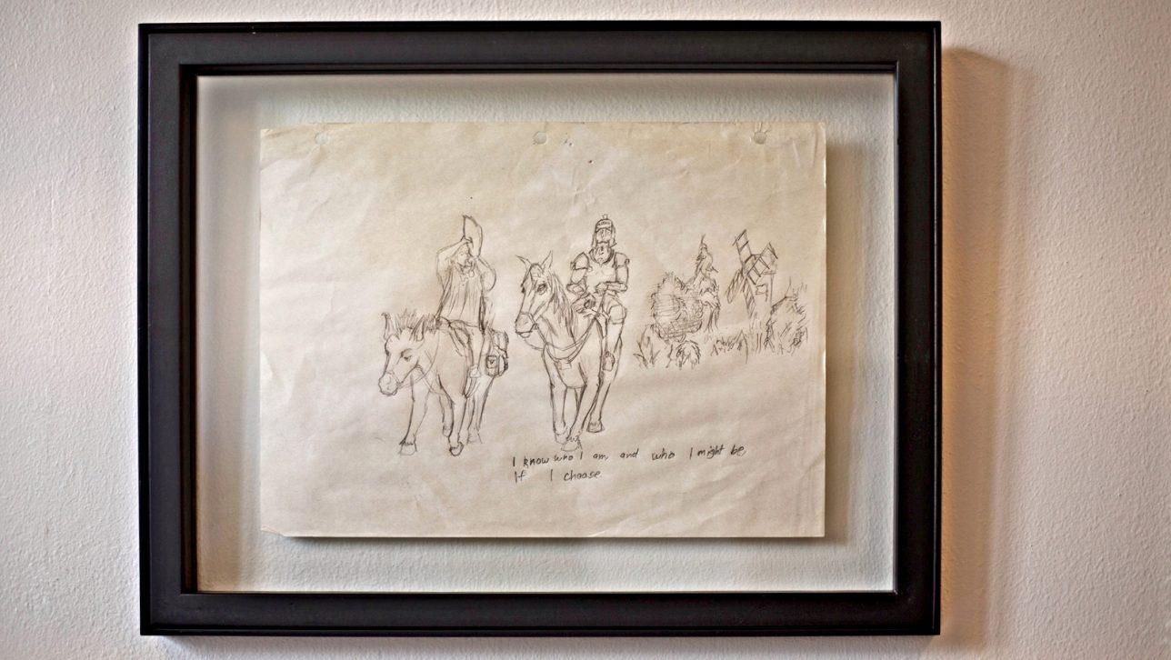 drawing of Don Quixote