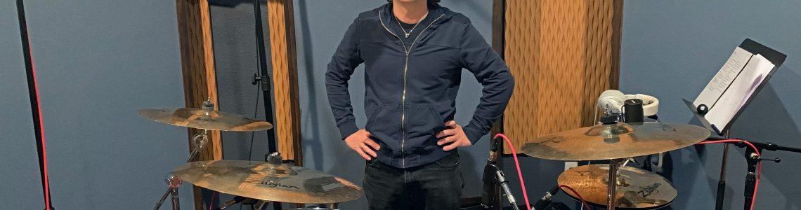 Nick Sullivan in his recording studio, The Keep