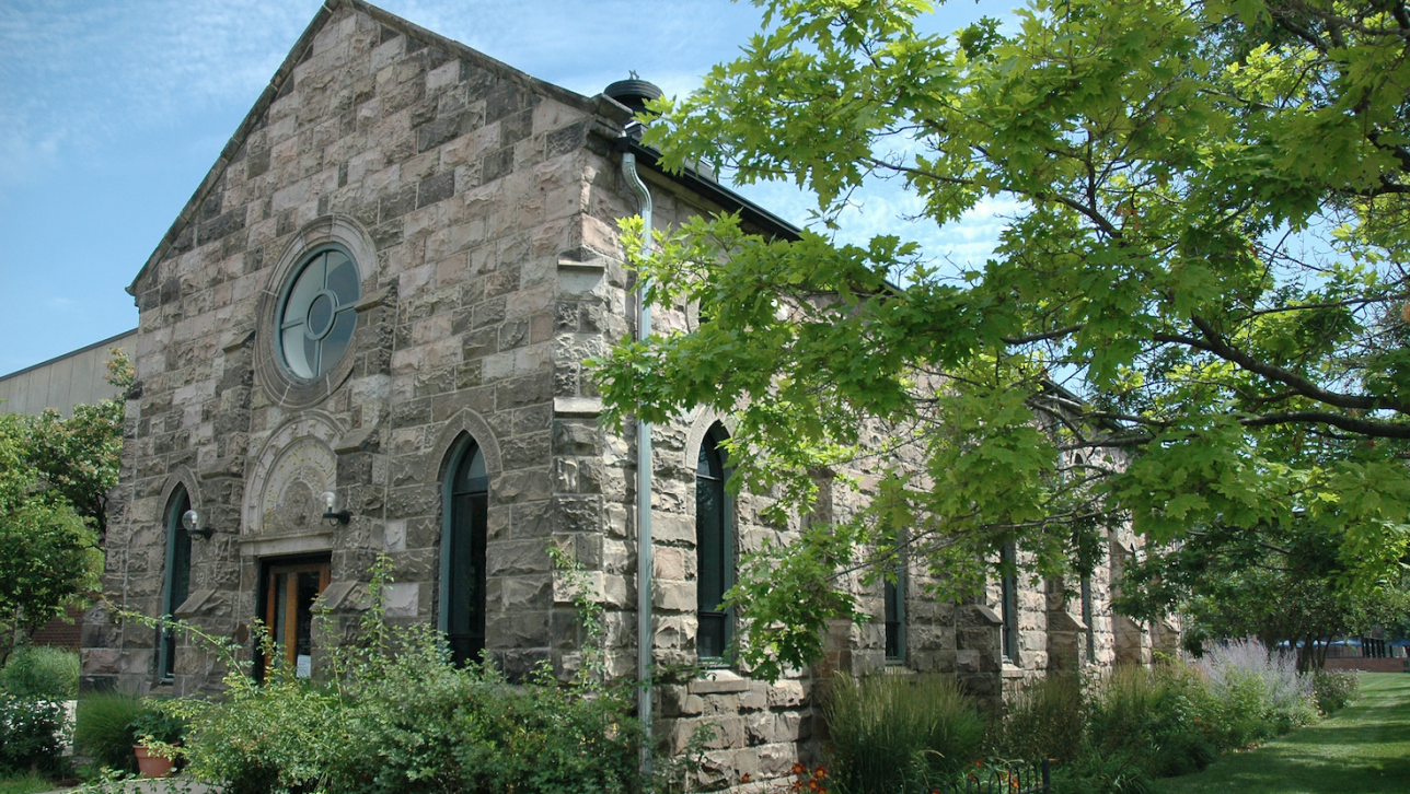Emmanuel Gallery, a late nineteenth-century stone church in Denver located on Auraria Campus in downtown Denver