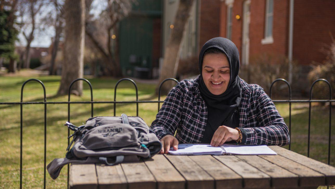 Nadeen Ibrahim on CU Denver's campus