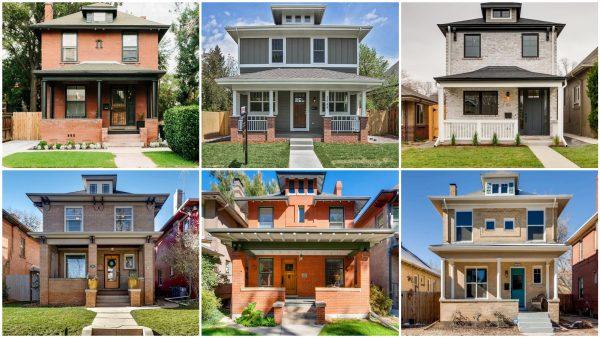 Collage of Denver Square homes