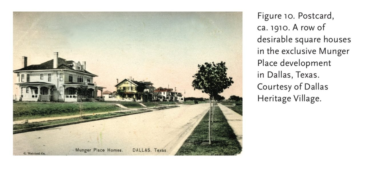 1910 photo of American Foursquares in Dallas, Texas