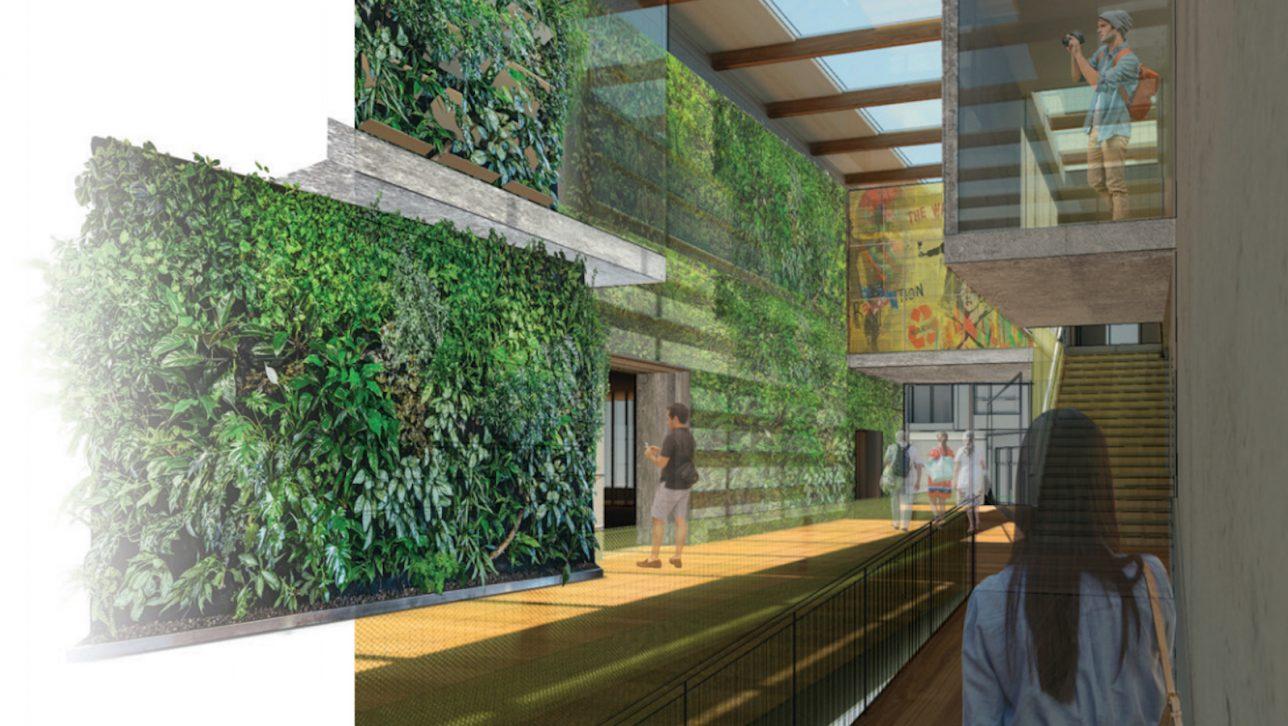Health and design building interior