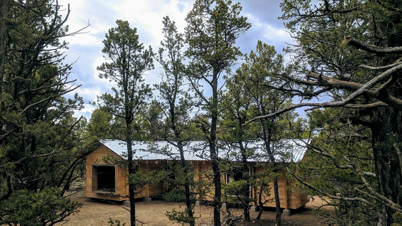 L-shaped cabin