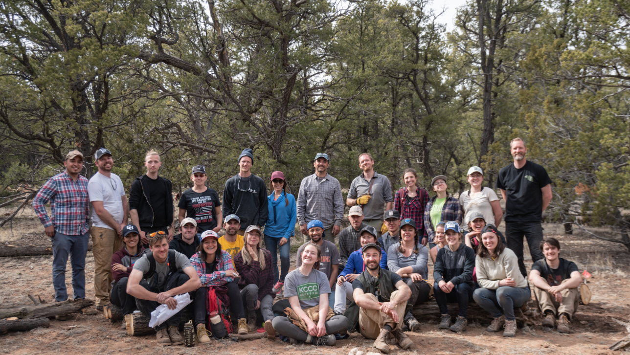 Students and faculty who participated in the cabin project