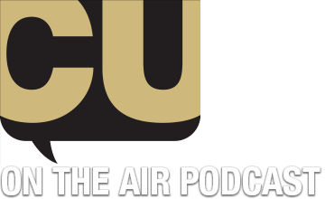 logo for CU on the Air podcast