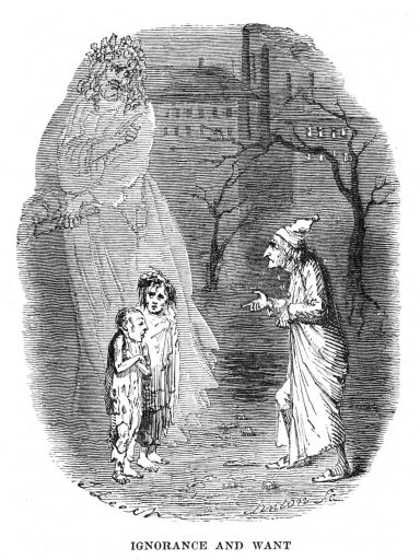 'Ignorance and Want' by John Leech, 1843