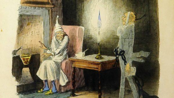 Marley's Ghost by John Leech, A Christmas Carol 1843