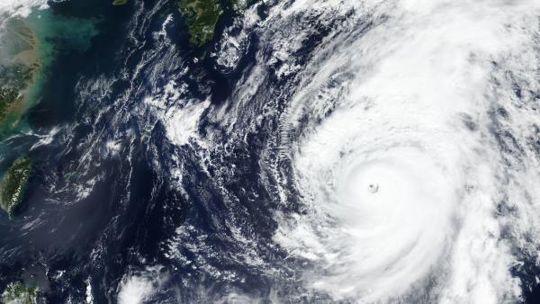 Typhoon Hagibis nearing Japan