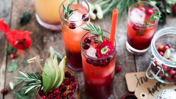 festive drinks; photo by Brooke lark via Unsplash