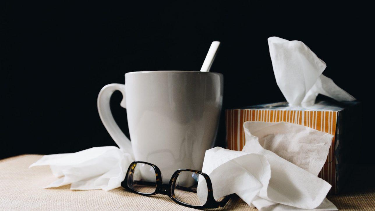 Mug with tissues