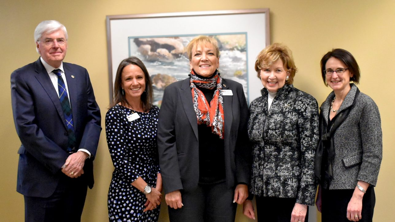 Dr. Angie Paccione, executive director of the CDHE, visits CU Denver.