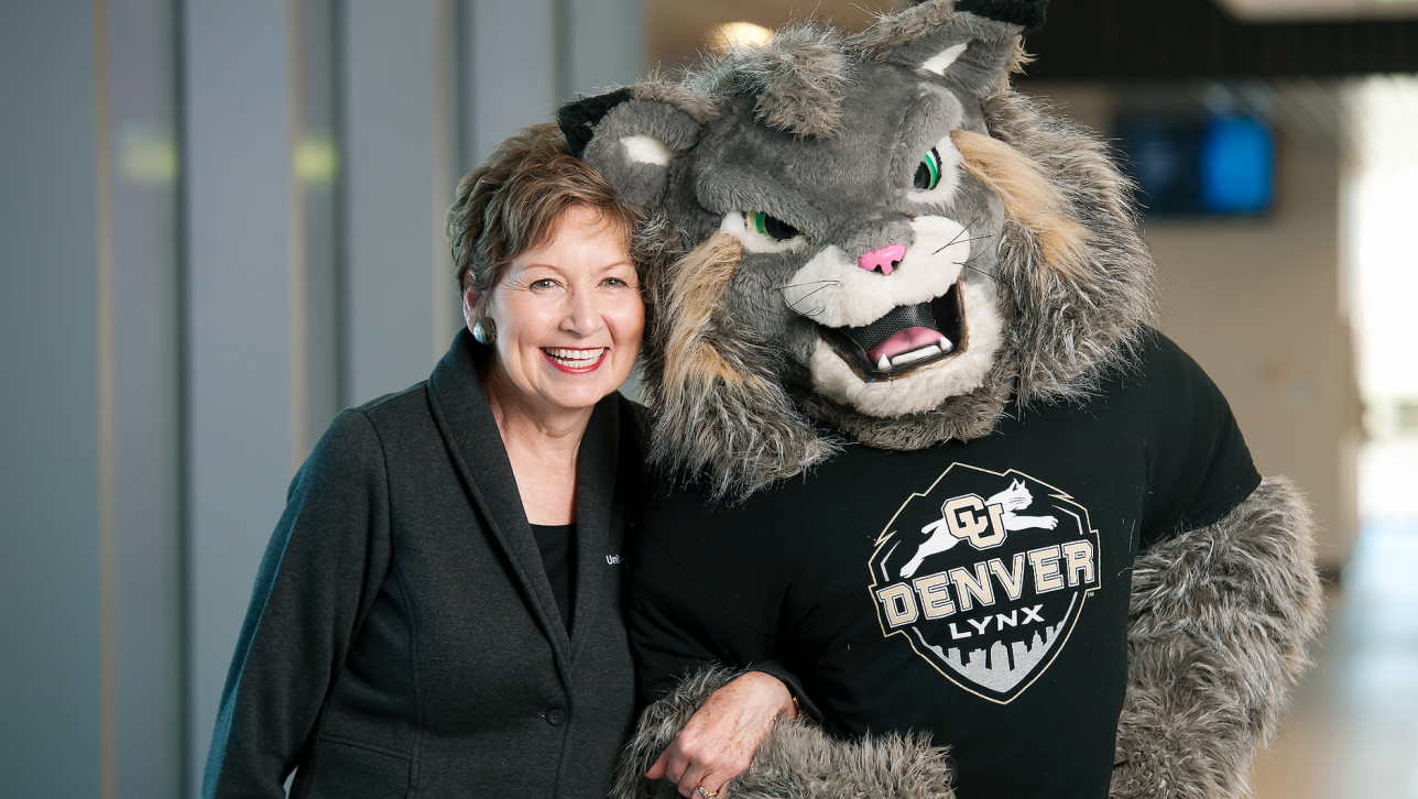 Milo with Chancellor Horrell