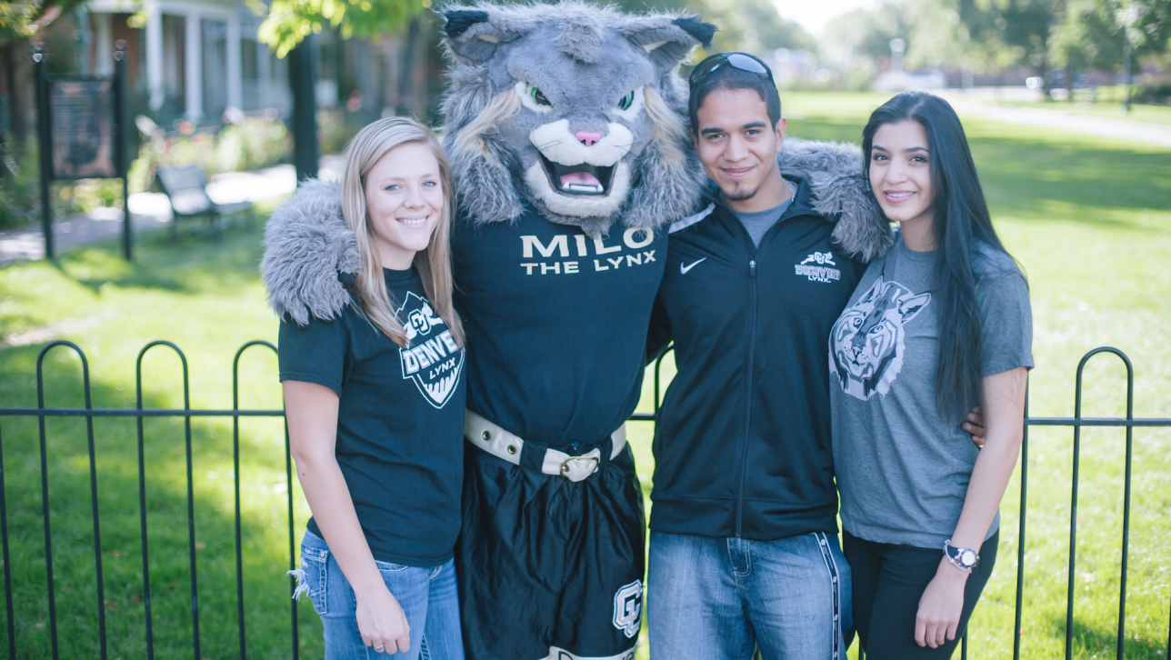 Milo with students