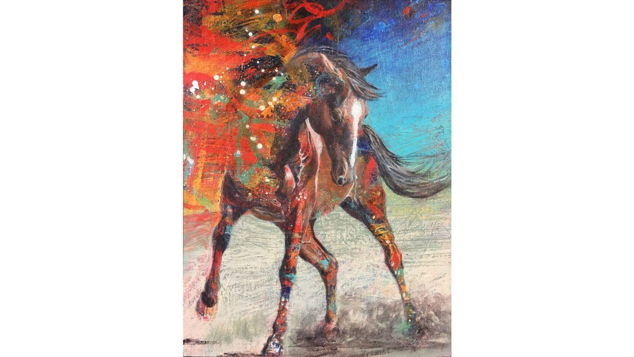 Rockin Horse, painting by Karen Roehl