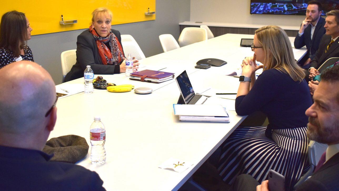 Dr. Angie Paccione visits CU Denver