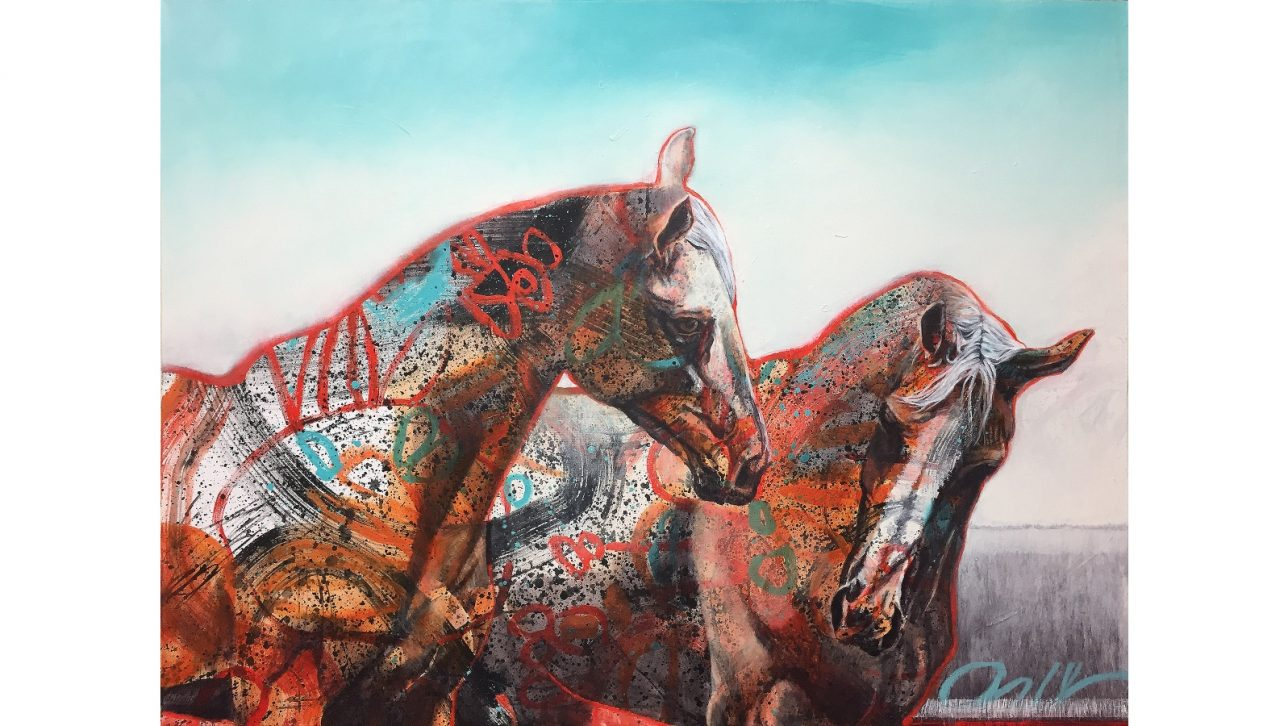 Wild Breed, painting by Karen Roehl