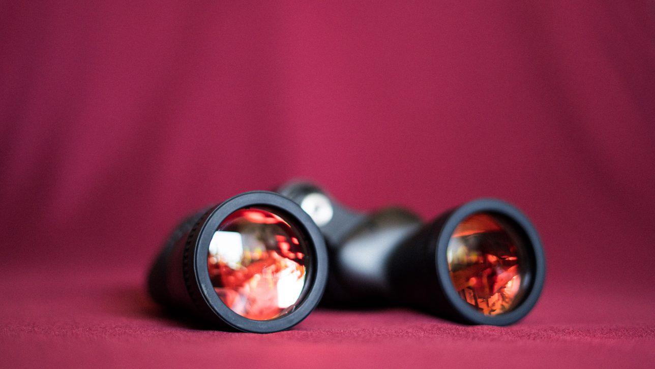 binoculars; photo by Kelli McClintock via Unsplash