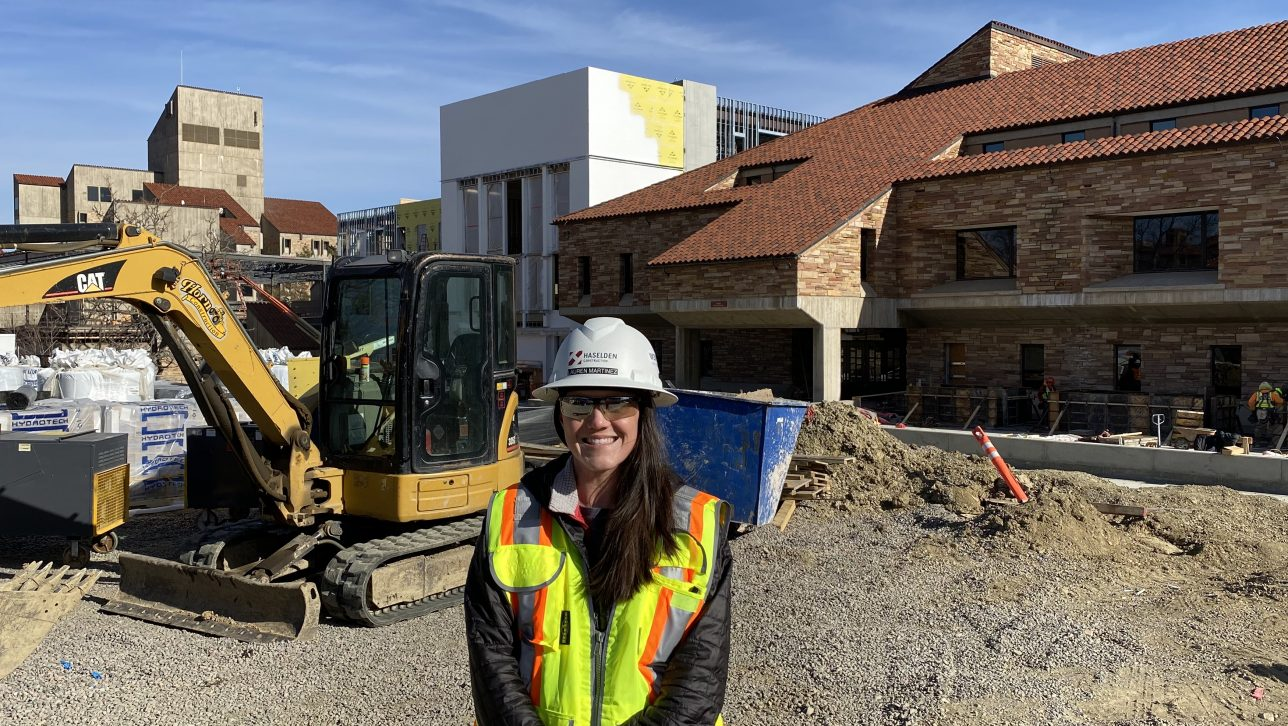 Lauren Martinez on construction site