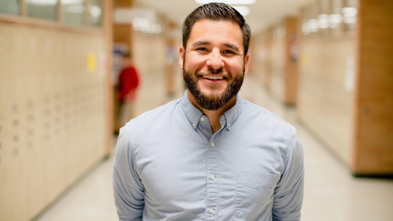 Michael Machado works in the ASPIRE to Teach alernative education program
