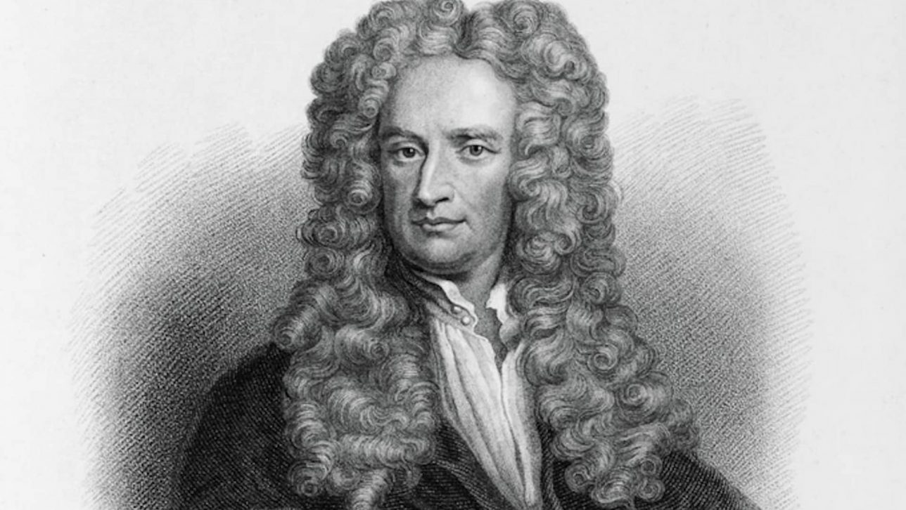portrait of Sir Isaac Newton by Samuel Freeman