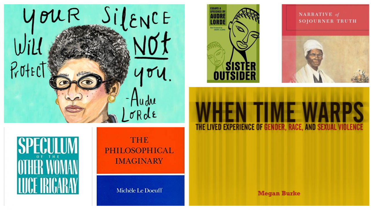 book covers by women philosophers; illustration of Audre Lorde by Jen Keenan