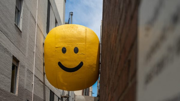 Denver smiley face in alley