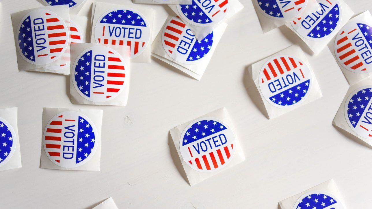 I Voted stickers, courtesy Unsplash