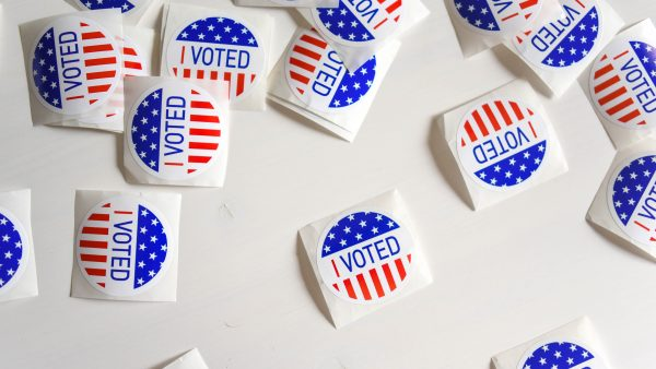 I Voted stickers, courtesy Unsplash