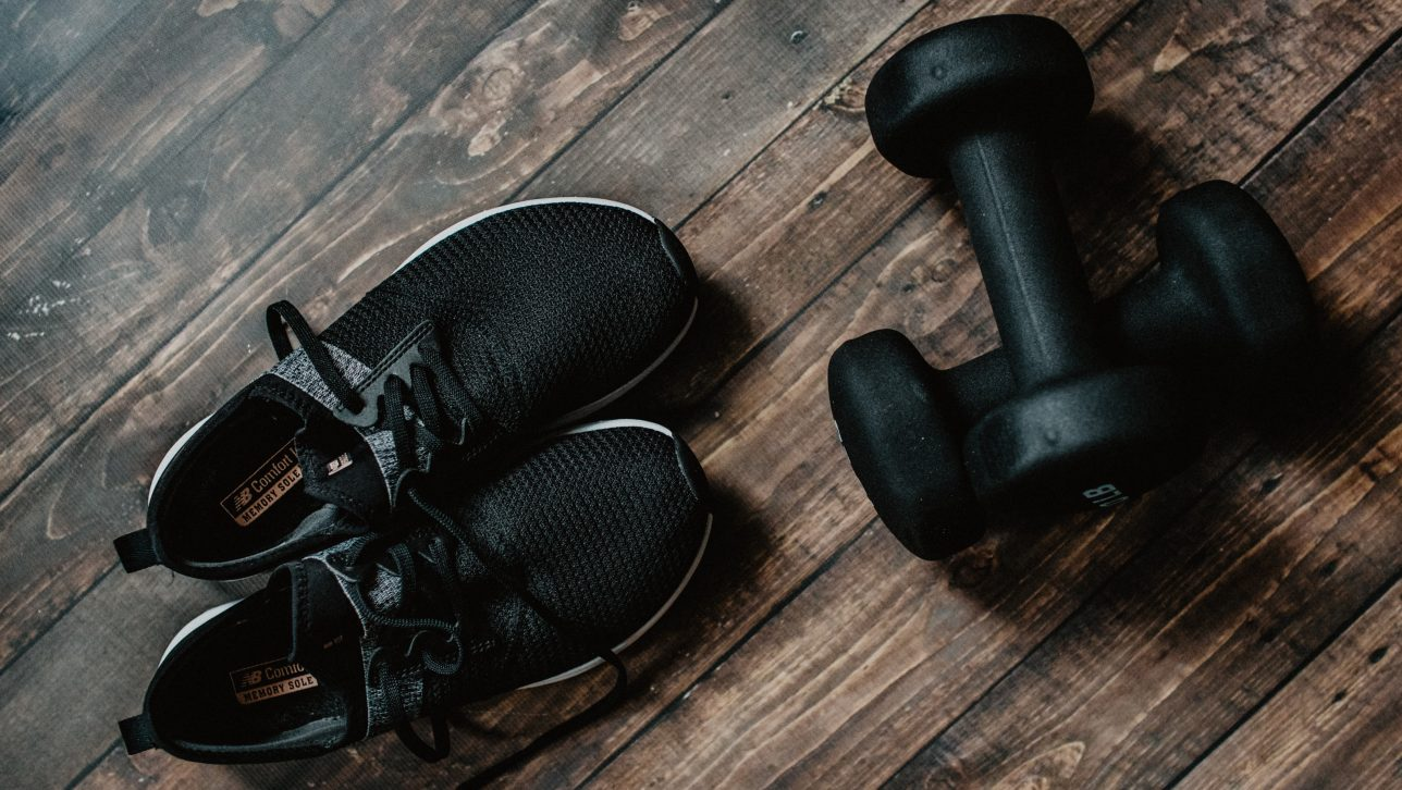 Sneakers and weights