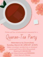 Quaran-Tea Party invitation