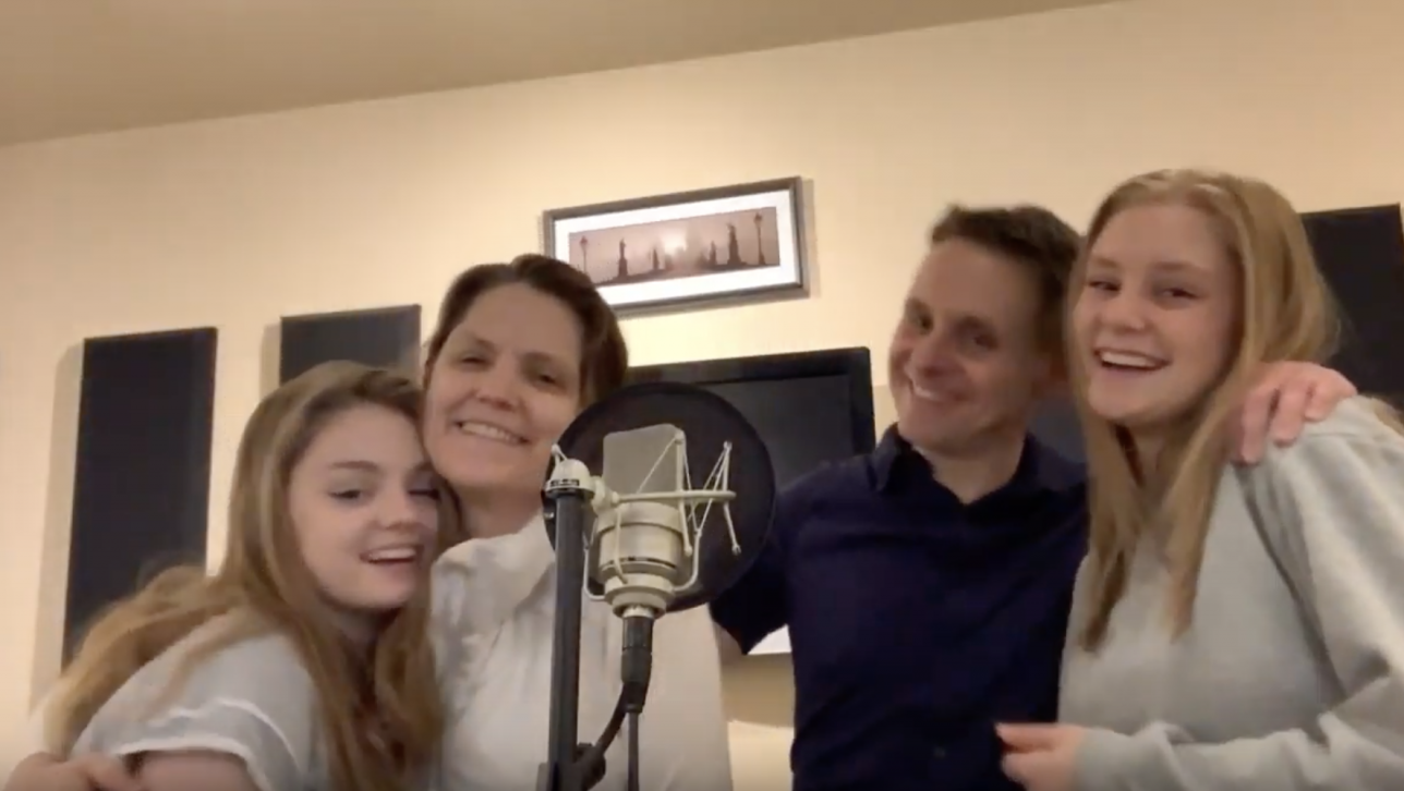 Doctor Noize records a song with family telling others to stay home during coronavirus pandemic