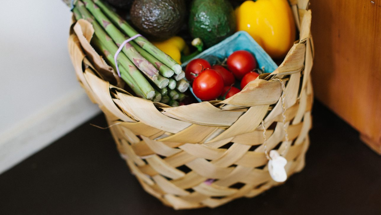 basket with food; photo by Leonie Wise via Unsplash