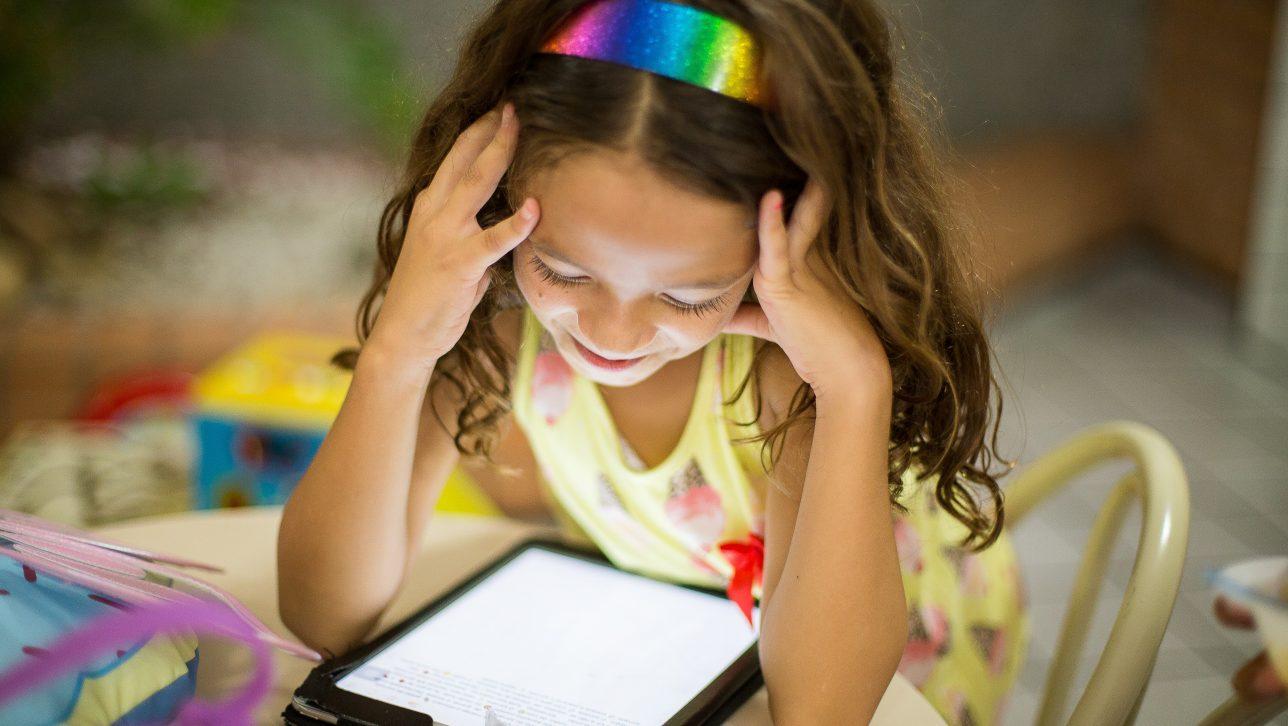 Child on an iPad