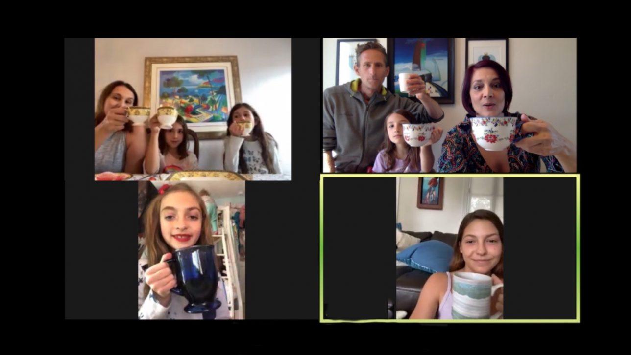 video call tea party