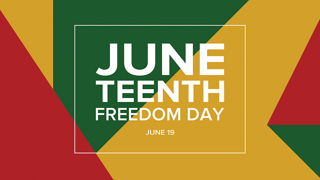 Juneteenth Freedom Day sign