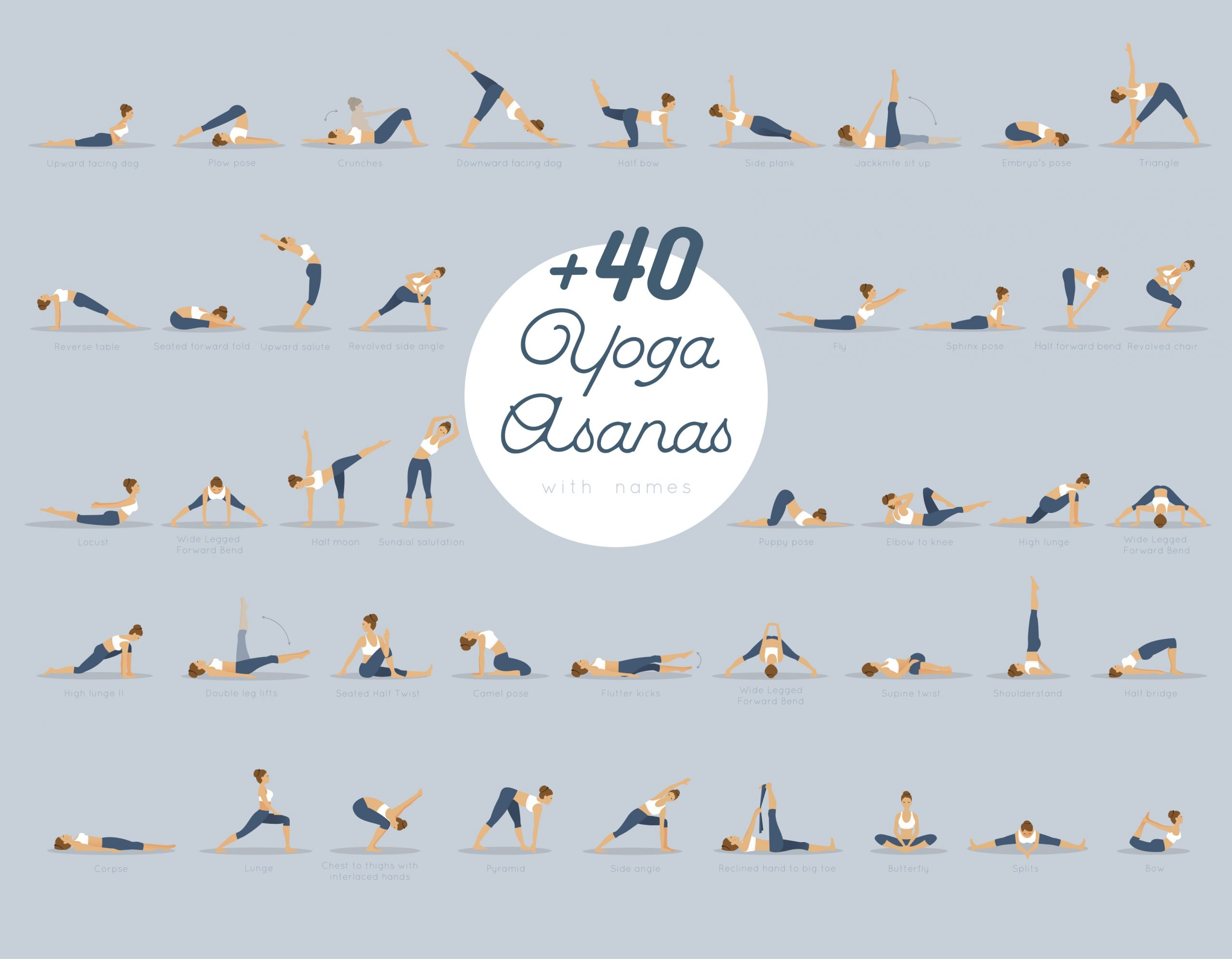 40 yoga poses with names