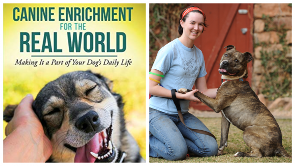 canine enrichment book cover and author photo
