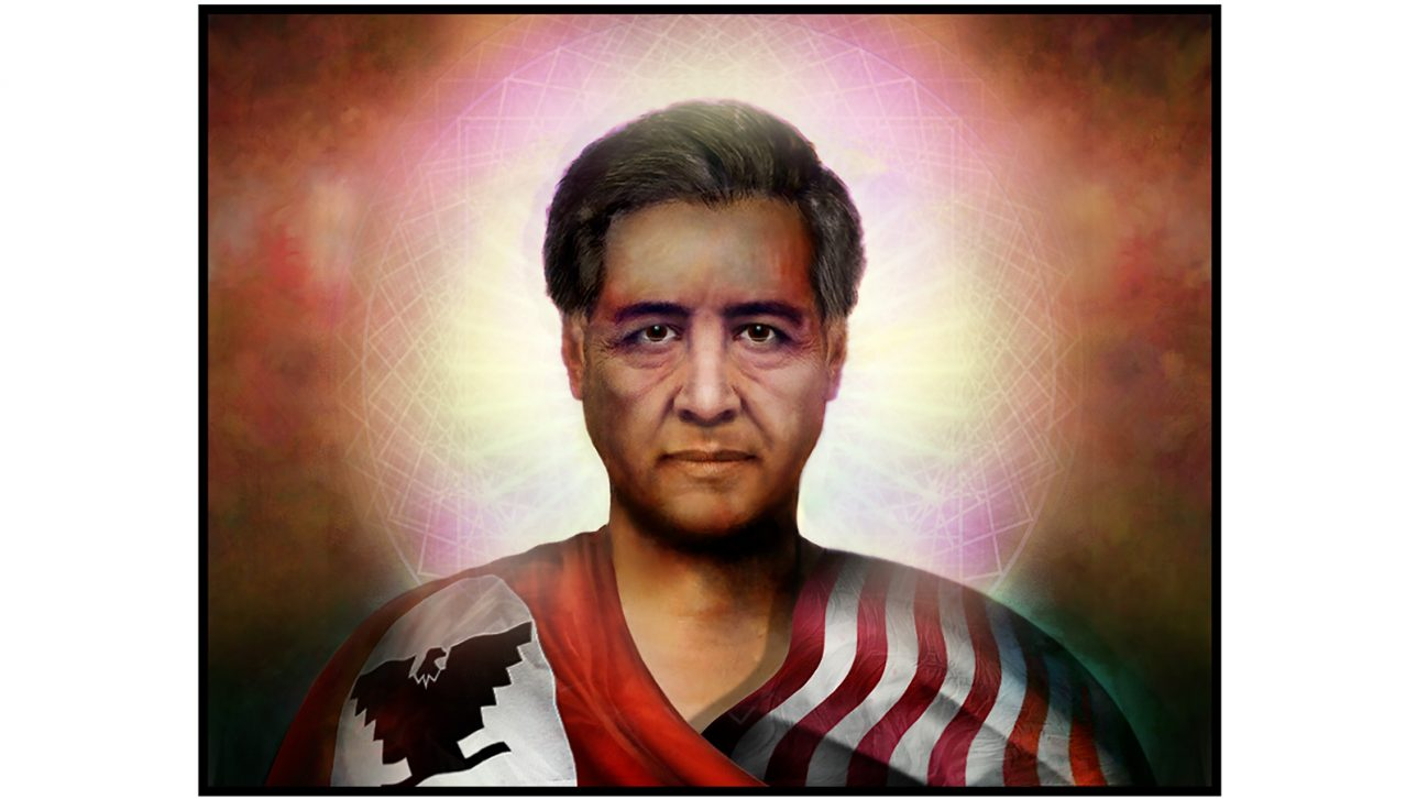 Portrait of César Chávez in Heaven