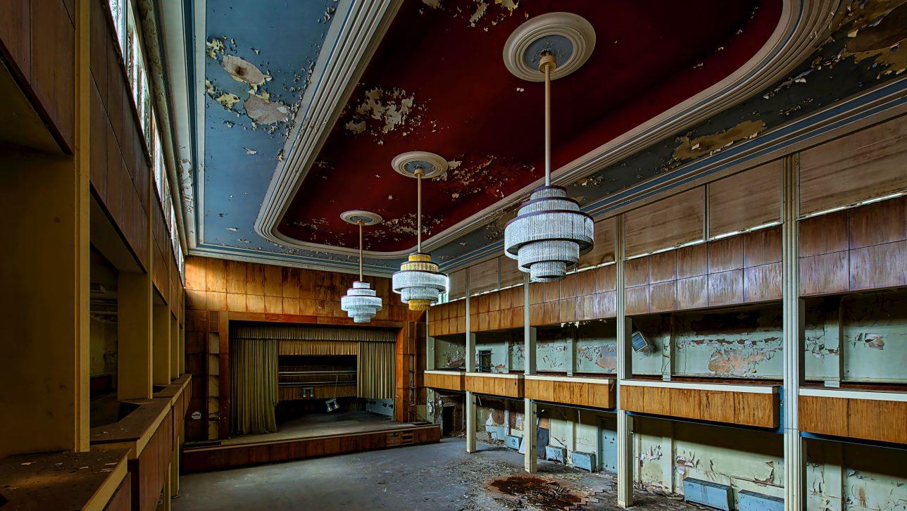 abandoned theater; photo by v2osk via unsplash