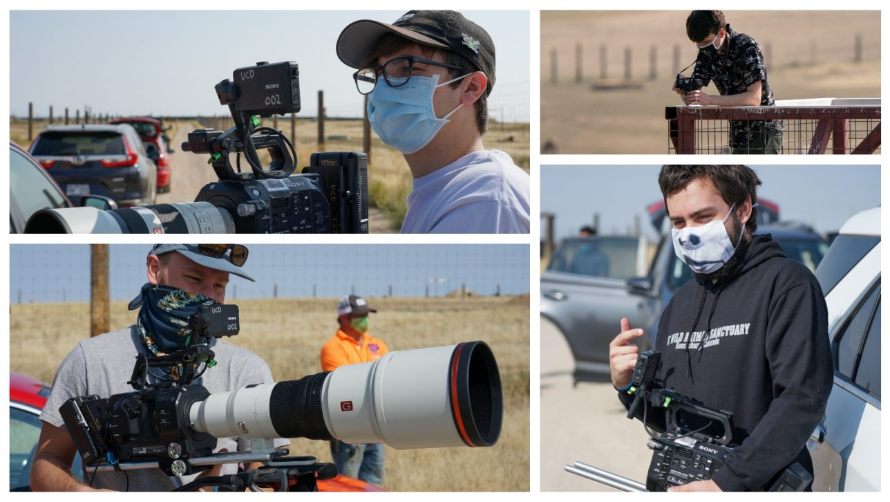 CU Denver film students at The Wild Animal Sanctuary