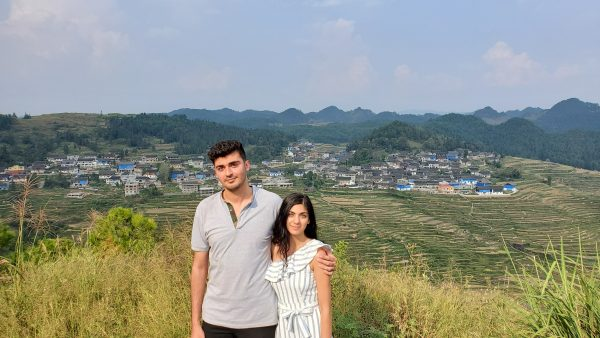 Hardy and his sister, Hawreen Rawanduzy in the countryside of southern Guizhou, China.