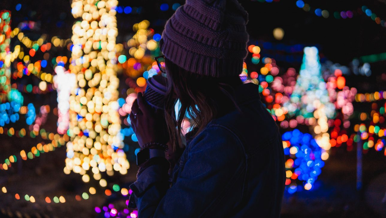 holiday lights; photo by chris ainsworth via unsplash