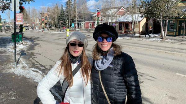Berni Slowey and sister