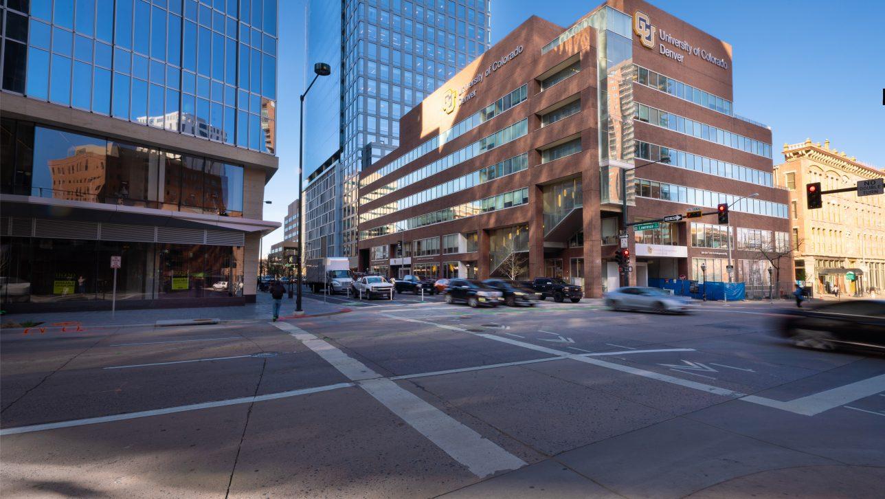 University of Colorado Denver building near Larimer St