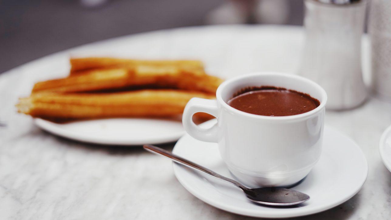 Spanish hot chocolate; photo by Oscar Nord via unsplash