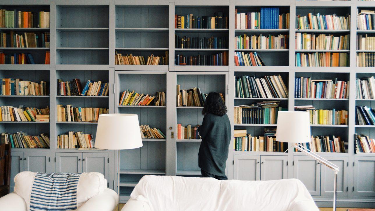 home library; photo by radu marcusu via unsplash