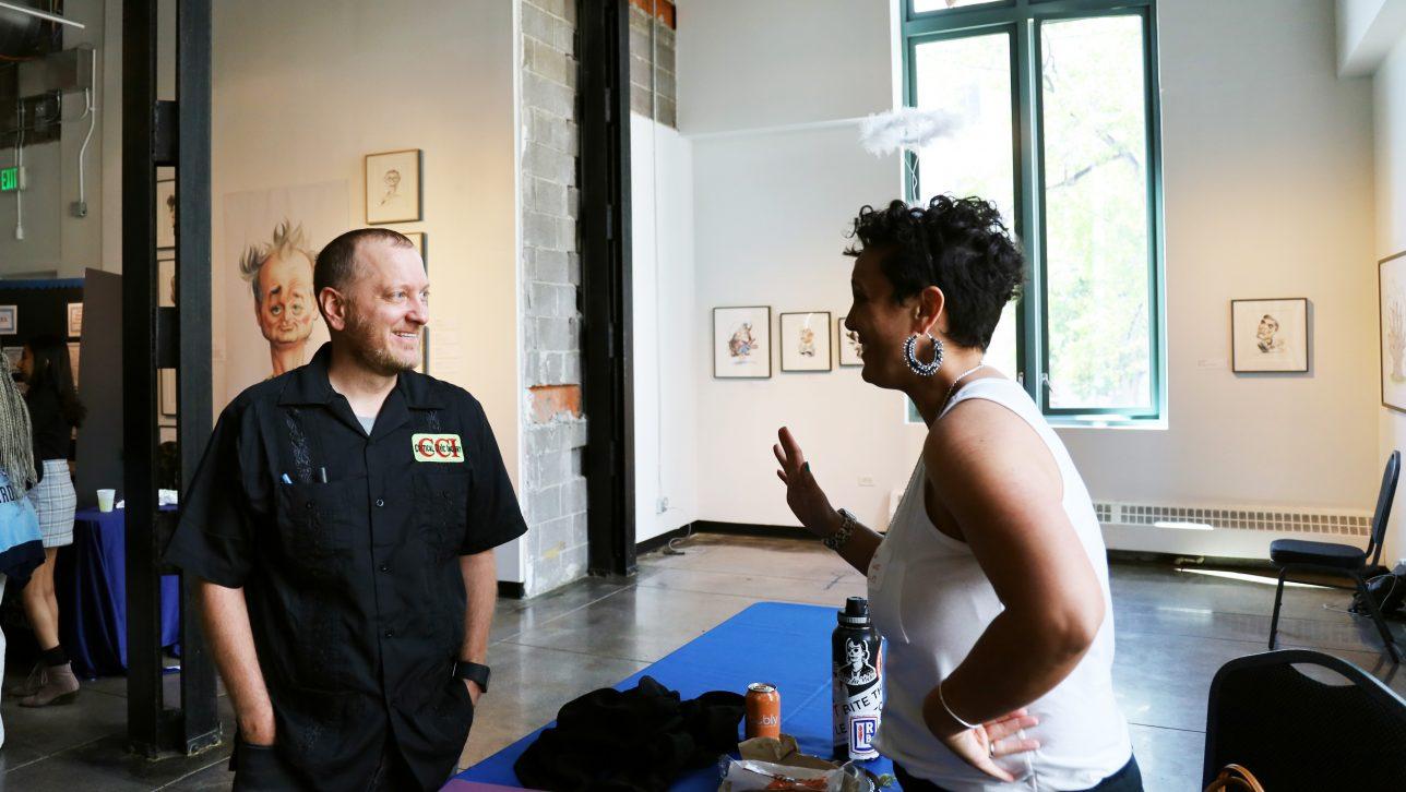 Dane Stickney with teacher