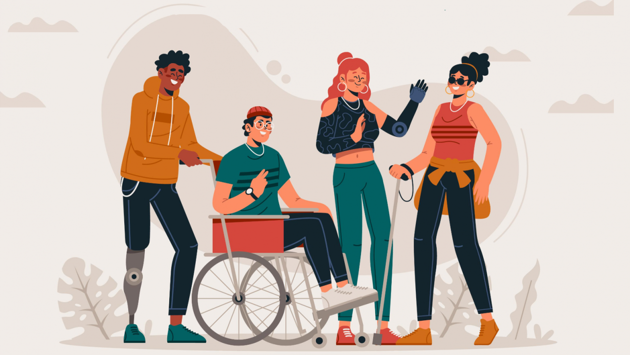 young people with disabilities; People vector created by pikisuperstar - www.freepik.com